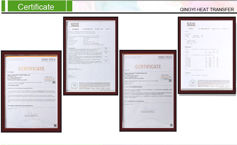 Heat Transfer Certificate