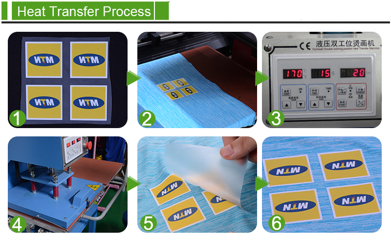 plastisol heat transfer sticker for t-shirt