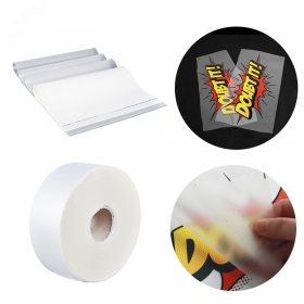 Cold peel matte PET printing film by Qingyi Heat Transfer